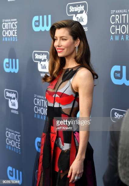 Actor Jessica Biel attends The 23rd Annual Critics' Choice Awards at Barker Hangar on January 11 2018 in Santa Monica California