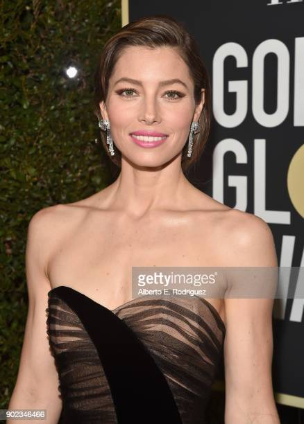 Actor Jessica Biel attends The 75th Annual Golden Globe Awards at The Beverly Hilton Hotel on January 7, 2018 in Beverly Hills, California.