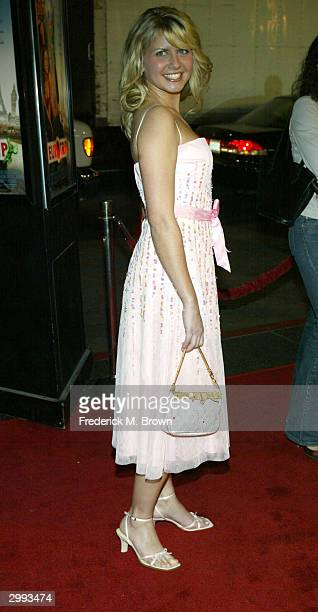 Actor Jessica Boehrs attends the film premiere of Eurotrip at Grauman's Chinese Theater on February 17 2004 in Hollywood California