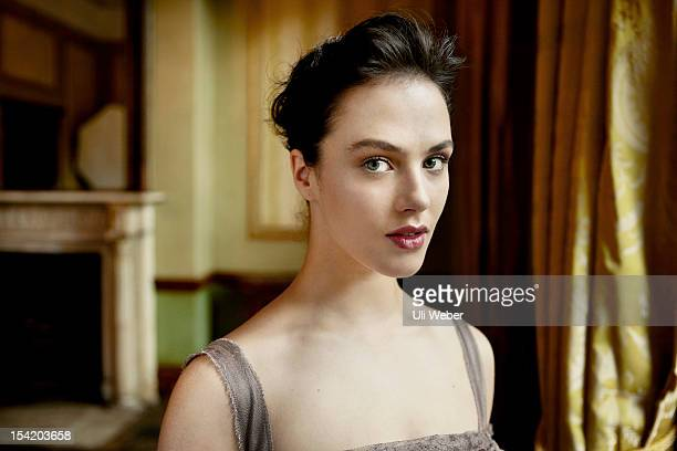 Actor Jessica Brown-Findlay is photographed in character as Lady Sybil Crawley for Vogue magazine on September 20, 2011 in London, England.