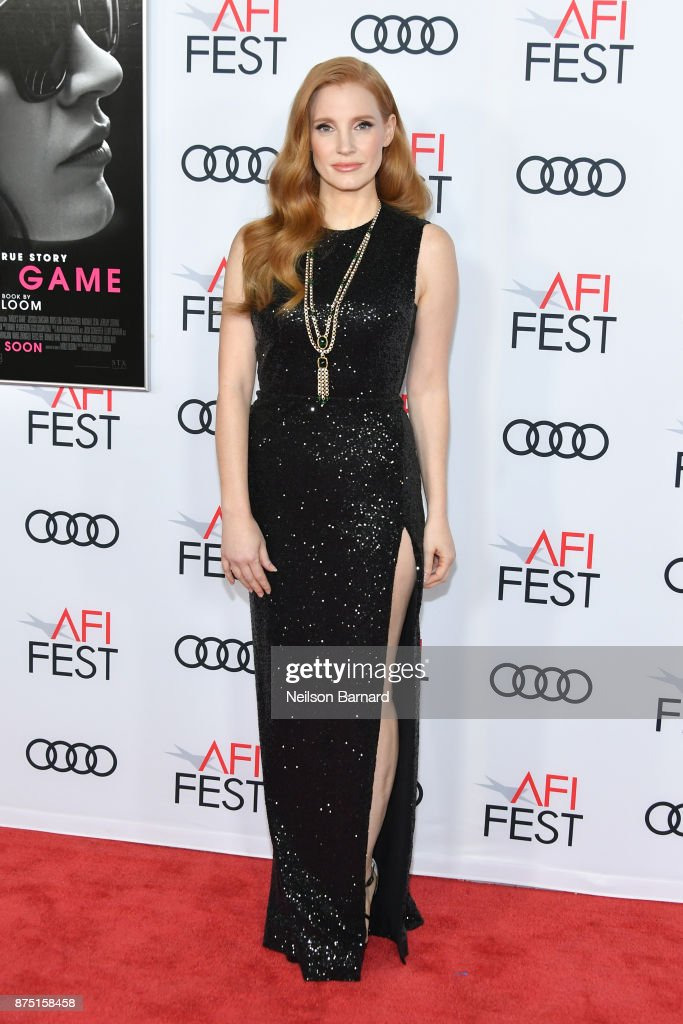 Actor Jessica Chastain attends the screening of 'Molly's Game' at the Closing Night Gala at AFI FEST 2017 Presented By Audi at TCL Chinese Theatre on November 16, 2017 in Hollywood, California.