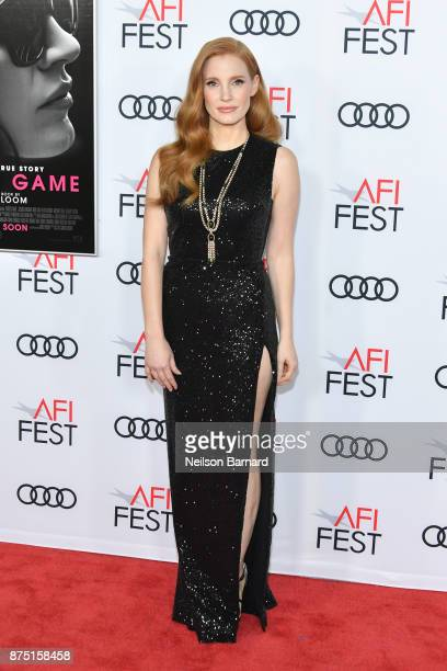 Actor Jessica Chastain attends the screening of 'Molly's Game' at the Closing Night Gala at AFI FEST 2017 Presented By Audi at TCL Chinese Theatre on...