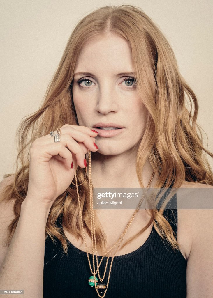 Actor Jessica Chastain is photographed for Grazia magazine on May 18, 2017 in Cannes, France. (Photo by Julien Mignot/Contour by Getty Images) Published Image.
