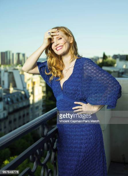 Actor Jessica Chastain is photographed for Paris Match on June 18 2018 in Paris France
