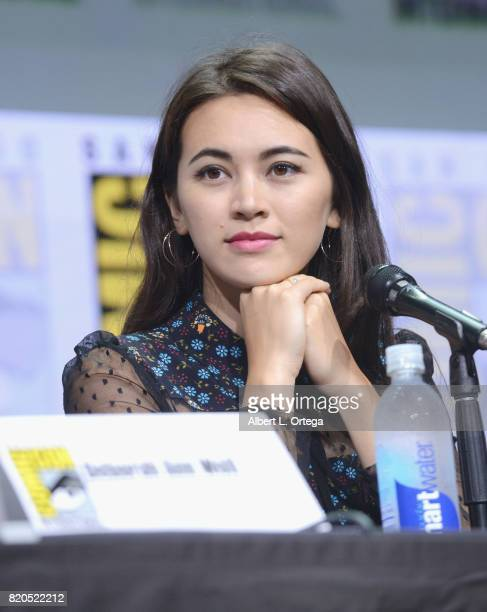 Actor Jessica Henwick speaks onstage at Netflix's 'The Defenders' panel during ComicCon International 2017 at San Diego Convention Center on July 21...
