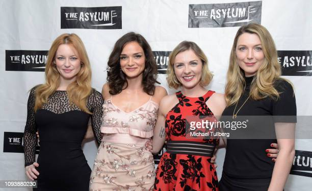 Actor Jessica Morris producers Jamie Bernadette and Chantelle Albers and actor Tania Nolan attend the Los Angeles premiere of The Asylum's The 6th...