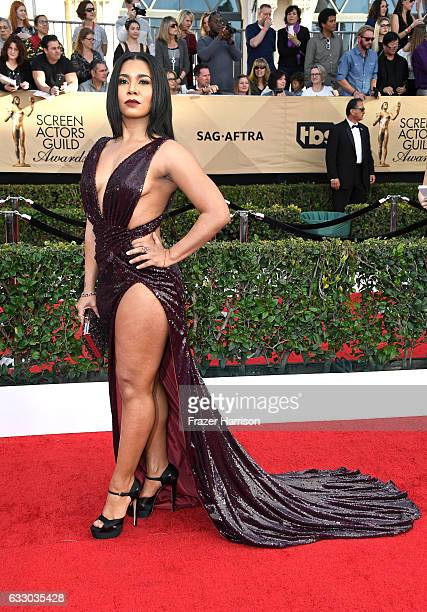 Actor Jessica Pimentel attends The 23rd Annual Screen Actors Guild Awards at The Shrine Auditorium on January 29, 2017 in Los Angeles, California....