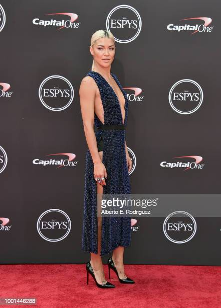 Actor Jessica Szohr attends The 2018 ESPYS at Microsoft Theater on July 18 2018 in Los Angeles California