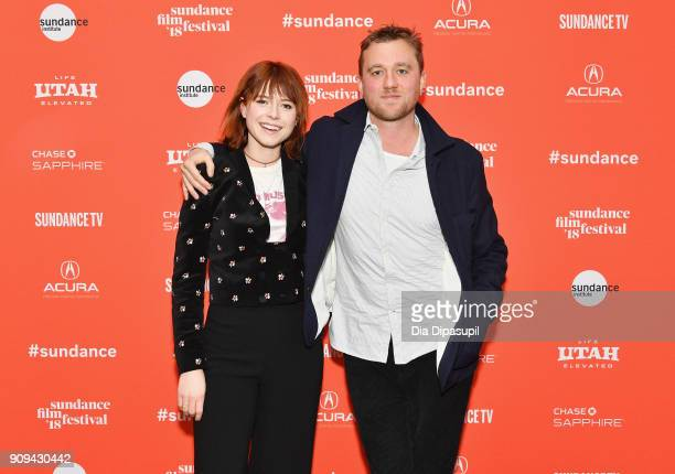 Actor Jessie Buckley and director Michael Pearce attend the 'Beast' Premiere during the 2018 Sundance Film Festival at Park City Library on January...