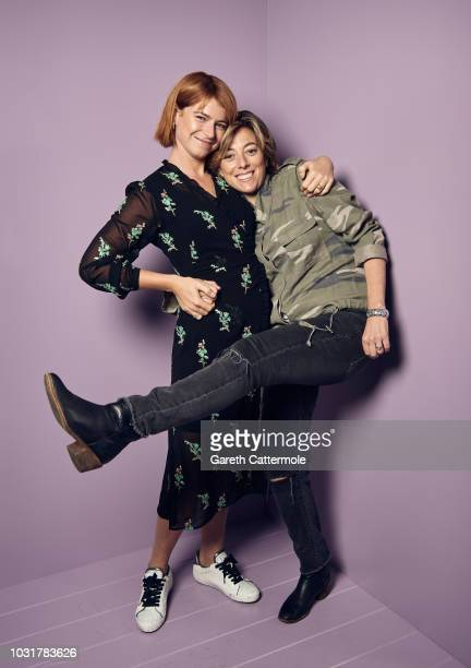 Actor Jessie Buckley and writer Nicole Taylor from the film 'Wild Rose' pose for a portrait during the 2018 Toronto International Film Festival at...