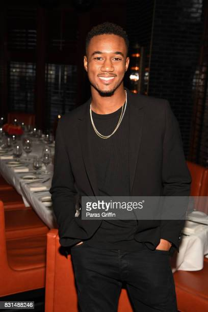 Actor Jessie T Usher at Survivor's Remorse x Upscale Magazine Champions Table Private Dinner at American Cut on August 14 2017 in Atlanta Georgia