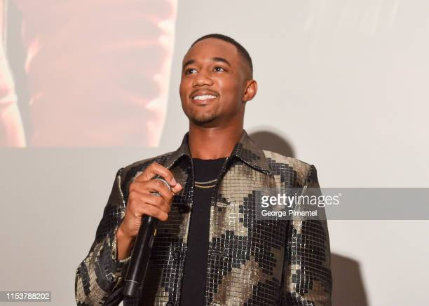 Actor Jessie T Usher attends and introduces a special fan screening of the upcoming world release of SHAFT held Cineplex Cinemas YongeDundas on June...