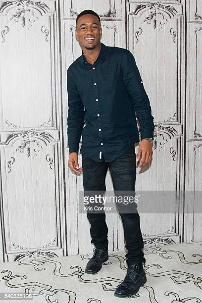 Actor Jessie T Usher from Independence Day Resurgence poses for a photo during the AOL Build Speaker Series at AOL Studios on June 14 2016 in New...