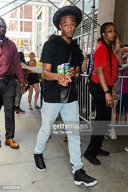 Actor Jessie T Usher leaves the Huffington Post Studios on July 11 2016 in New York City