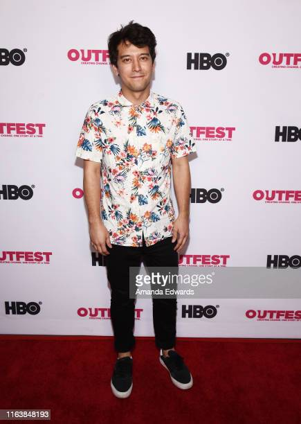 Actor Jesten Mariconda arrives at the 2019 Outfest Los Angeles LGBTQ Film Festival Breakthrough Centerpiece Screening of Straight Up at the TCL...