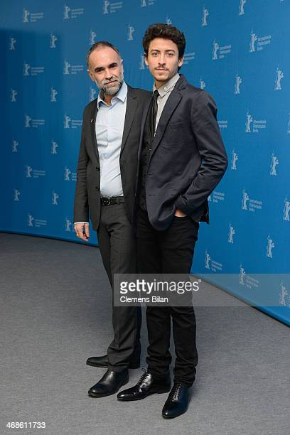 Actor Jesuita Barbosa and director Karim Ainouz attend the 'Praia do futuro' photocall during 64th Berlinale International Film Festival at Grand...