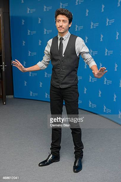Actor Jesuita Barbosa attends the 'Praia do futuro' photocall during 64th Berlinale International Film Festival at Grand Hyatt Hotel on February 11...