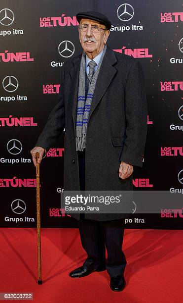 Actor Jesus Guzman attends 'Los del Tunel' premiere at Capitol cinema on January 18 2017 in Madrid Spain