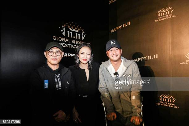 Actor Jet Li actress Zhang Ziyi and actor Wu Jing arrive for 2017 Alibaba Singles' Day Global Shopping Festival gala at MercedesBenz Arena on...
