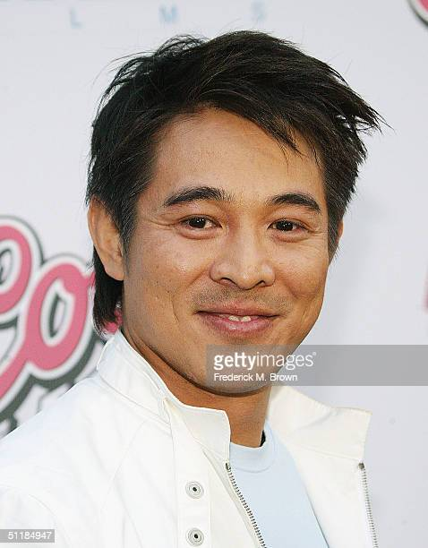 """Actor Jet Li attends the film premiere of """"Hero"""" at the Arclight Theater on August 17, 2004 in Hollywood, California. The film """"Hero"""" opens..."""
