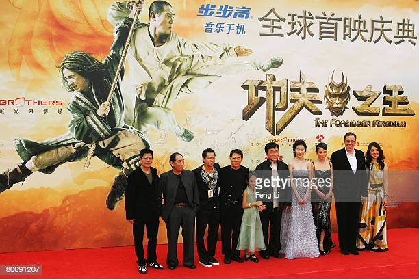 Actor Jet Li Jet Li's daughter actor Jackie Chan actress Crystal Liu actress Li Bingbing and director Rob Minkoff attend the world premiere Of The...