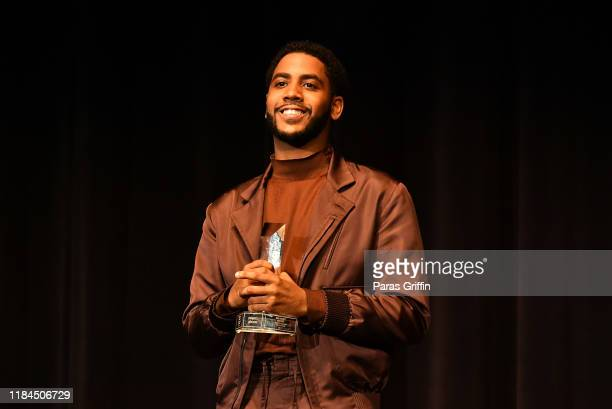 Actor Jharrel Jerome accepts the Breakout Award during the 22nd SCAD Savannah Film Festival on October 30, 2019 at Trustees Theater in Savannah,...