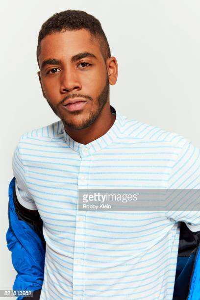 Actor Jharrel Jerome from ATT AUDIENCE's 'Mr Mercedes' poses for a portrait during ComicCon 2017 at Hard Rock Hotel San Diego on July 23 2017 in San...