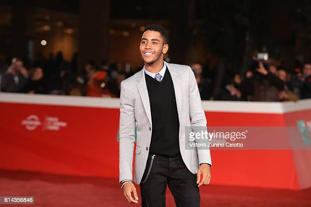 Actor Jharrel Jerome walks a red carpet for 'Moonlight' on October 13 2016 in Rome Italy