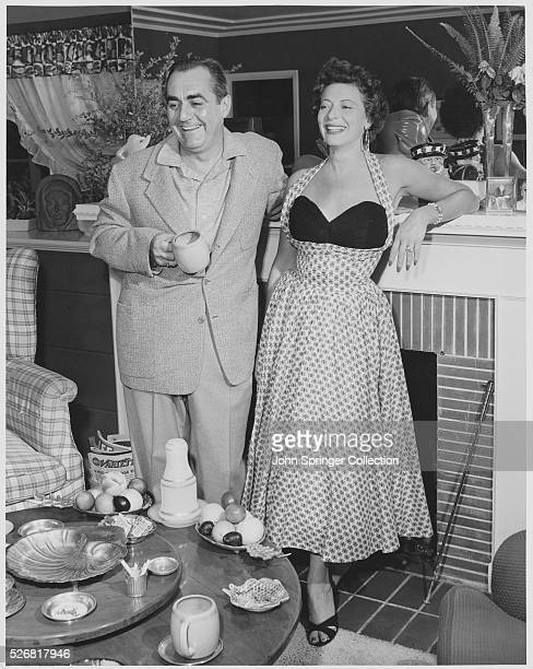 Actor Jim Backus and Wife Henny at Home