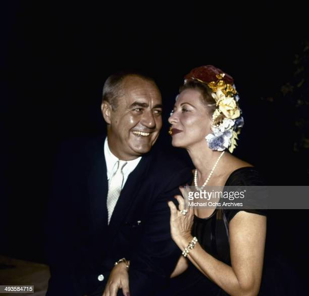 Actor Jim Backus poses with his wife Henny in Los Angeles California