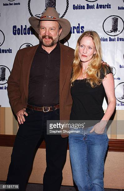 Actor Jim Beaver and actress Paula Malconson attend the Golden Boot Awards at the Sheraton Universal Hotel on August 7 2004 in Universal City...