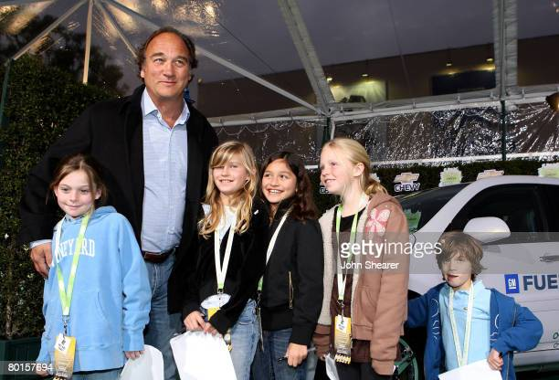 Actor Jim Belushi and guests arrive at Chevy Rocks The Future at the Buena Vista Lot at The Walt Disney Studios on February 19 2008 in Burbank...