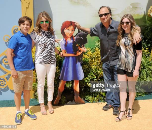 Actor Jim Belushi wife Jennifer Sloan and kids arrive at the Los Angeles premiere of 'Legends Of OZ Dorothy's Return' at Regency Village Theatre on...