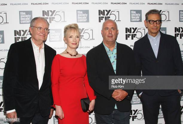 Actor Jim Broadbent actress Lindsay Duncan director Roger Michell and actor Jeff Goldblum attend the 'Le WeekEnd' premiere during the 51st New York...
