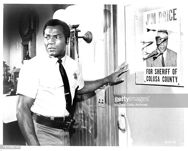 Actor Jim Brown on set of the movie tick tick tick in 1970