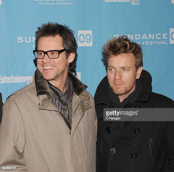 Actor Jim Carrey and actor Ewan McGregor and attend the 'I Love Phillip Morris' premiere during the 2009 Sundance Film Festival at the Eccles Theatre...