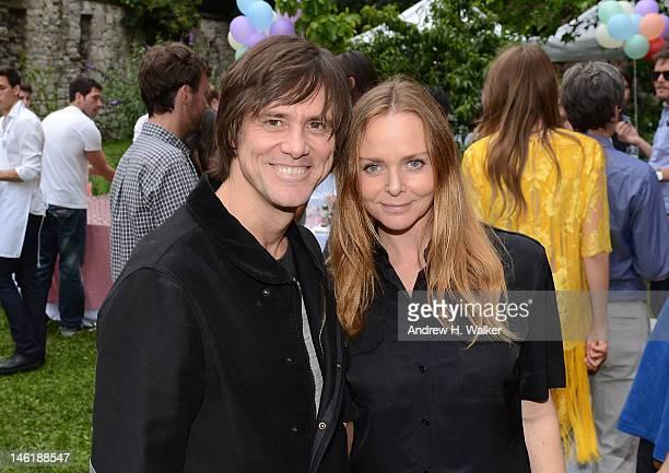 Actor Jim Carrey and fashion designer Stella McCartney attend the Stella McCartney Resort 2013 Presentation on June 11 2012 in New York City