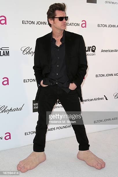 Actor Jim Carrey arrives at the 21st Annual Elton John AIDS Foundation's Oscar Viewing Party on February 24 2013 in Los Angeles California