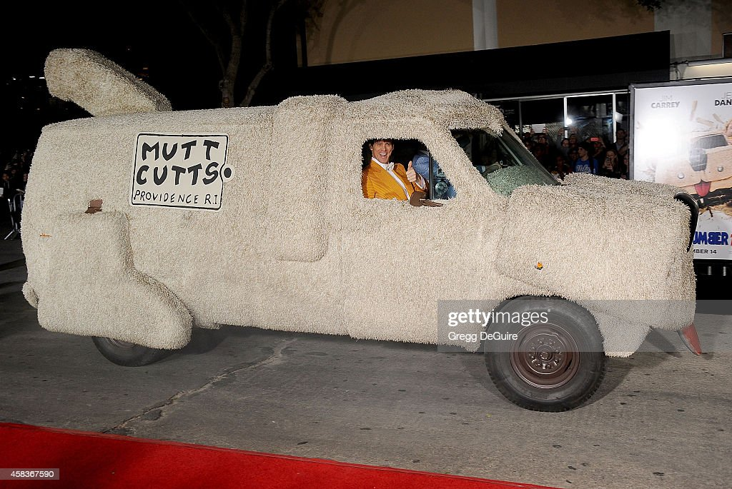 Actor Jim Carrey arrives at the Los Angeles premiere of 'Dumb And Dumber To' at Regency Village Theatre on November 3, 2014 in Westwood, California.