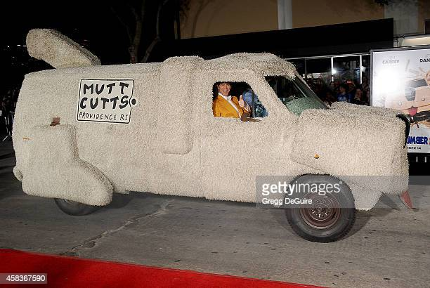 Actor Jim Carrey arrives at the Los Angeles premiere of Dumb And Dumber To at Regency Village Theatre on November 3 2014 in Westwood California