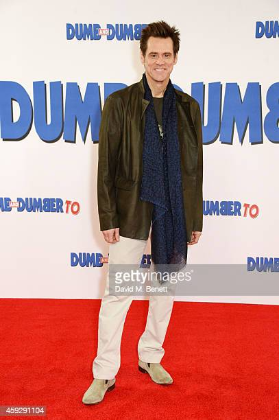 Actor Jim Carrey attends a photocall for Dumb and Dumber To on November 20 2014 in London England