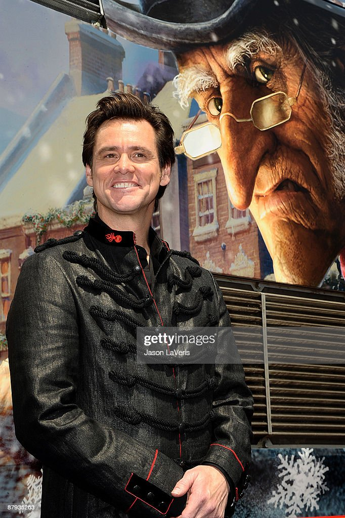 Disneys A Christmas Carol.Actor Jim Carrey Attends Disney S A Christmas Carol Train