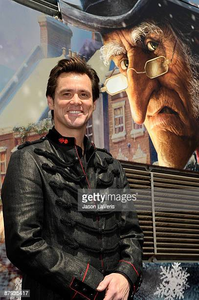 Actor Jim Carrey attends Disney's 'A Christmas Carol' train tour at Union Station on May 21 2009 in Los Angeles California
