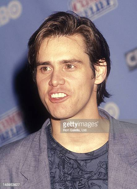 Actor Jim Carrey attends HBO's Television Comedy Special Comic Relief V to Benefit America's Homeless on May 16 1992 at the Universal Amphitheatre in...
