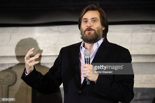 Actor Jim Carrey attends the 'Disney's A Christmas Carol' train tour last stop at Grand Central Station on October 30 2009 in New York City