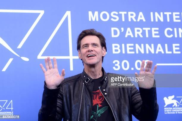 Actor Jim Carrey attends the photocall of the movie 'Jim Andy The Great Beyond The Story Of Jim Carey Andy Kaufman With A Very Special Contractually...