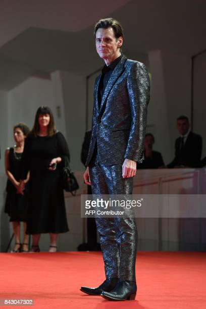 Actor Jim Carrey attends the premiere of the movie 'Jim Andy The Great Beyond The Story Of Jim Carey Andy Kaufman With A Very Special Contractually...