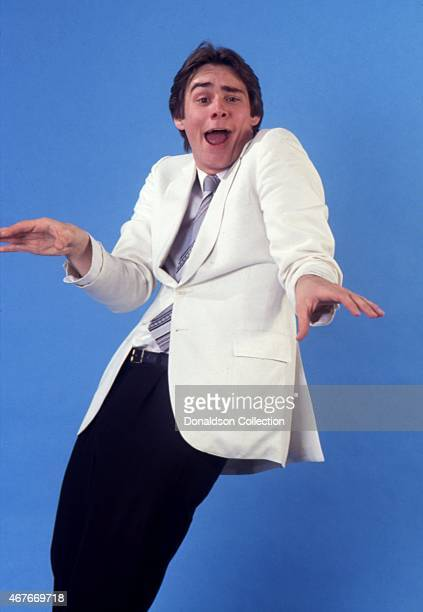 Actor Jim Carrey impersonates Steve Martin as he poses for a portrait session in circa 1992 in Los Angeles California