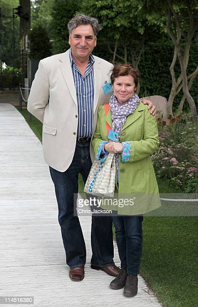 Actor Jim Carter and Actress Imelda Staunton poses for a photograph during Chelsea Flower Show Press and VIP Day on May 23 2011 in London England