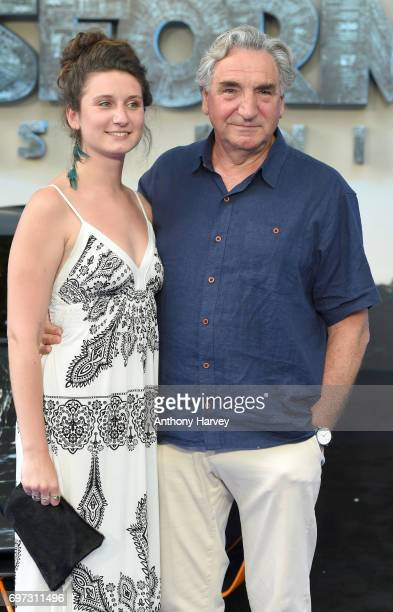 Actor Jim Carter and daughter Bessie Carter attend the global premiere of Transformers The Last Knight at Cineworld Leicester Square on June 18 2017...